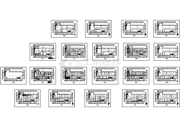 办公楼装修设计施工图-图一