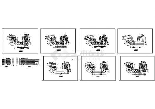 酒店建筑方案工程CAD施工设计图纸-图一