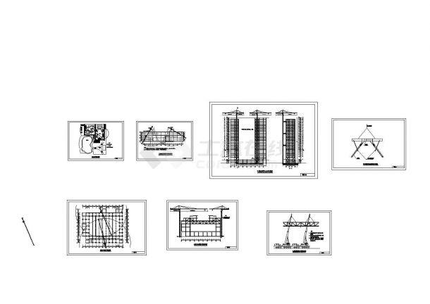 某五星酒店及会议中心大型钢结构工程投标书及cad图纸(全套).共七张-图一