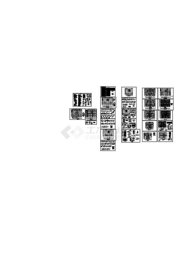 某18层框架剪力墙住宅CAD结构施工图-图二