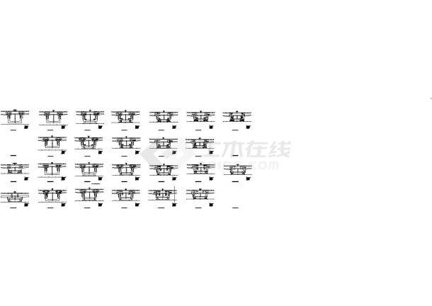 40+8x80+40米变截面连续箱梁桥上部、下部结构设计施工图(135张)-图二