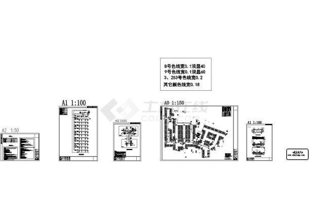 酒店地下停车场管理系统电气图纸-图二