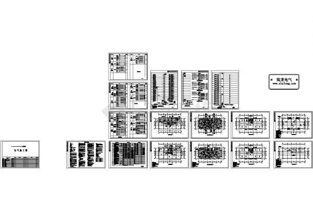 某小区16层住宅楼电气设计cad施工图-图一