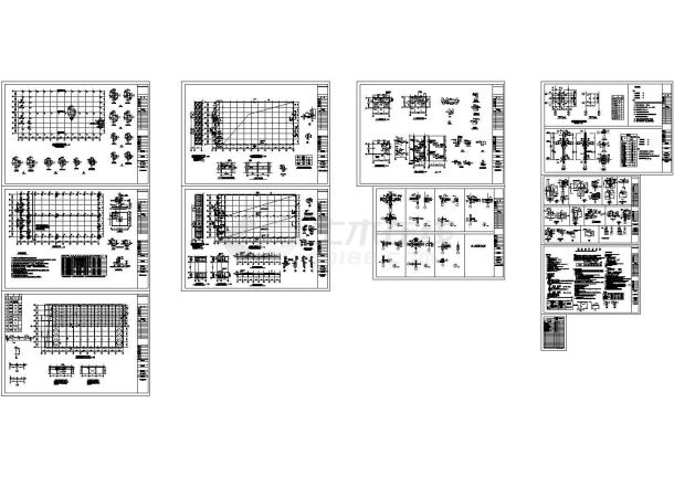 某三层钢结构厂房结构施工图纸-图一