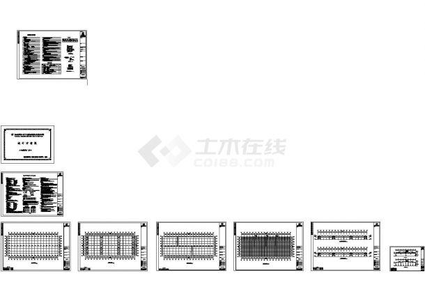 某公司119米x48米跨钢结构厂房结构CAD施工图-图一
