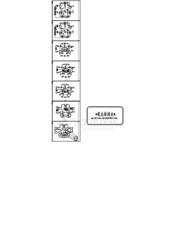 带商高层住宅给排水消防施工图CAD-图二