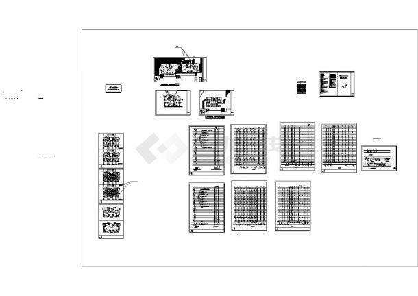[福建]高层住宅小区给排水消防施工图(HR型七氟丙烷气体灭火)CAD-图一