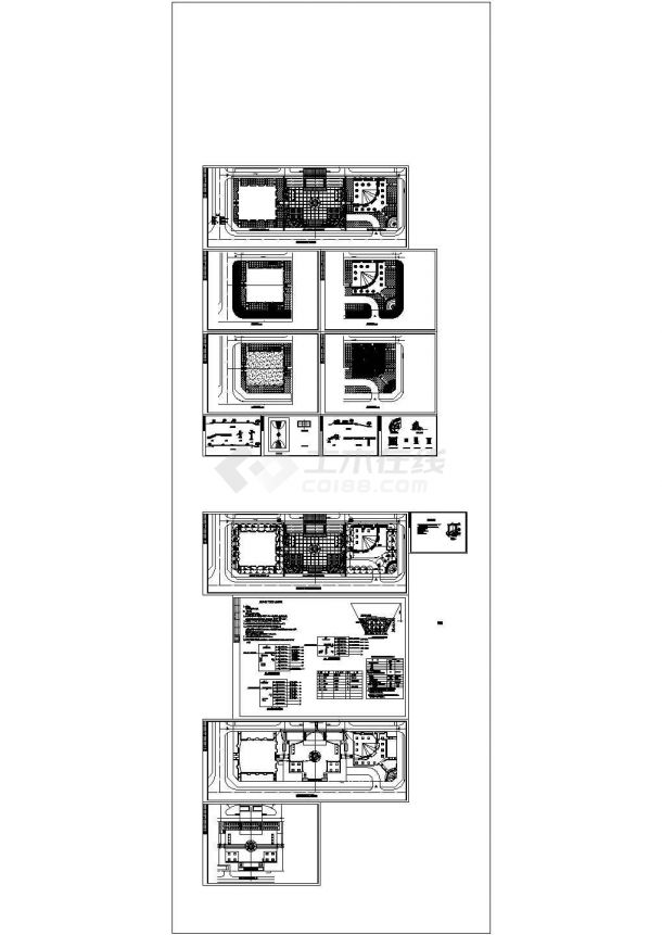 甘肃某广场绿化给水及照明设计cad全套施工图(含电气设计说明,含给排水设计说明)-图一