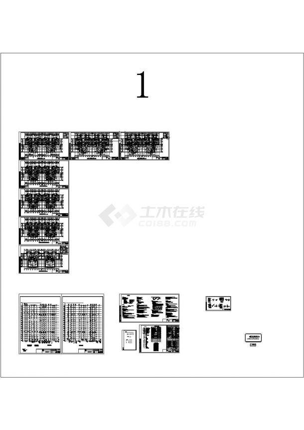 [湖南]18层住宅小区给排水CAD施工图-图一