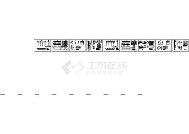 [天津]道路桥梁工程设计施工图30张-图一