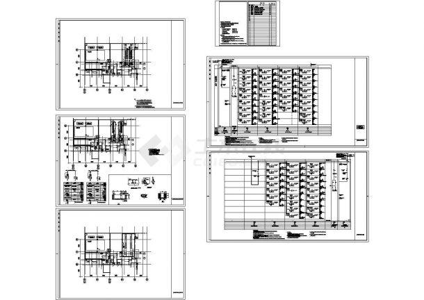 [湖北]专用配电室电气施工cad图,共六张-图一
