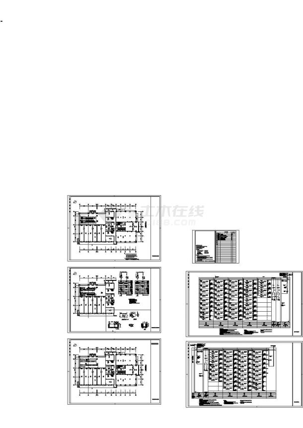[湖北]专用配电室电气施工cad图,共六张-图二