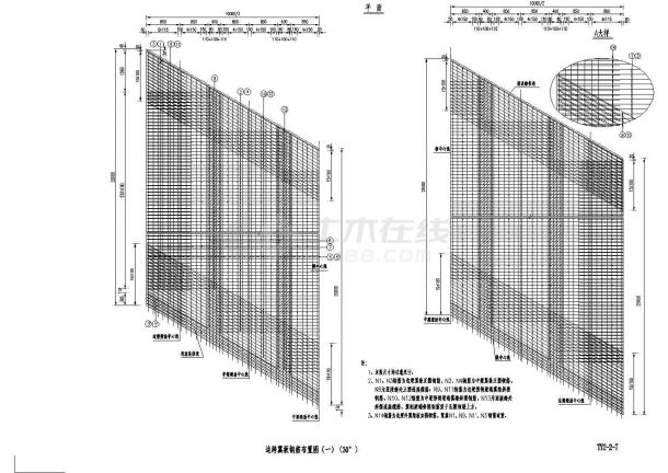 [浙江]预应力混凝土连续梁桥T梁施工图设计23张(桥宽10m)-图二