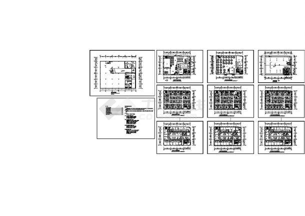 广州市某7层高档星级酒店装修设计CAD施工图-图二
