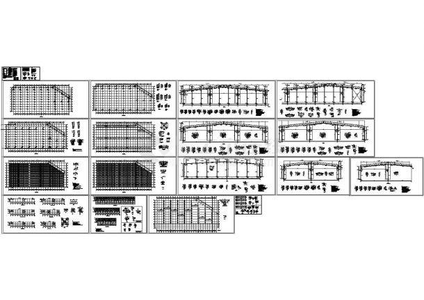单层轻钢结构厂房结构CAD施工图-图一