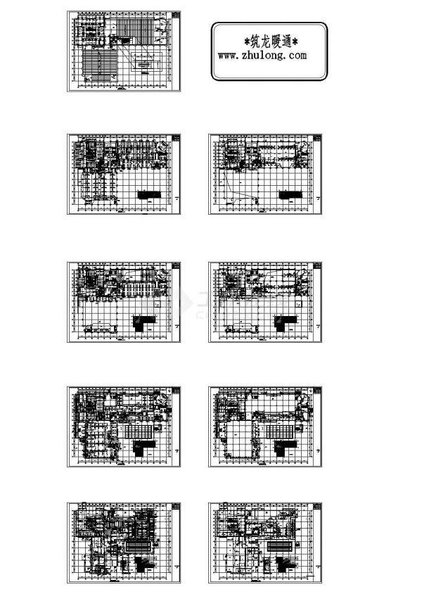 【内蒙古】某大酒店暖通空调施工设计CAD图纸-图二
