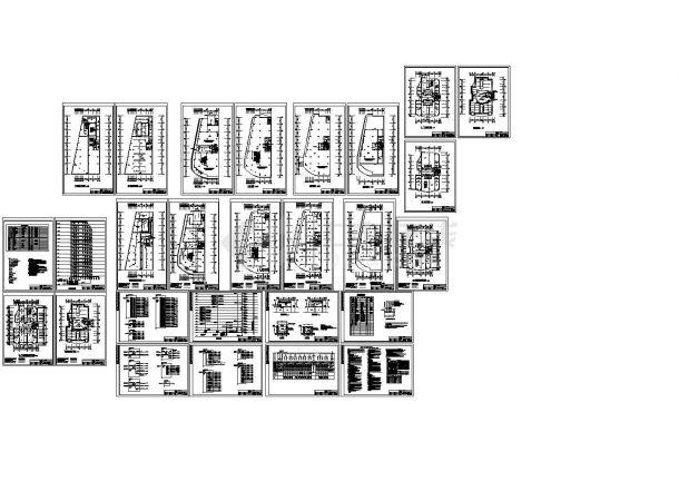 某小高层电气消防报警设计平面图-图一