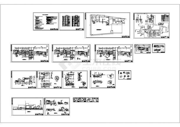 某县集中供热锅炉房施工CAD设计图-图一