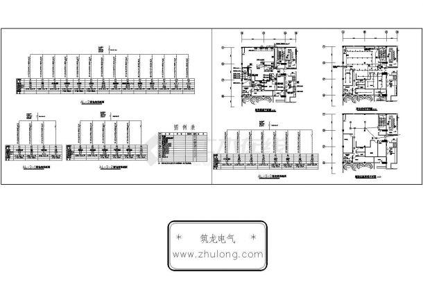 浙江某酒店厨房电气施工CAD图-图一