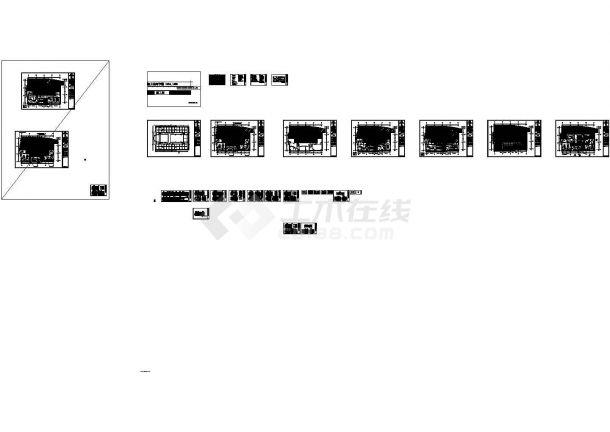 福建恒基集 团办公室混搭风格.室内装修图全套cad(含施工说明)-图一