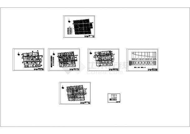 南京某大学给排水管网课程全套设计cad图纸(含总平面图)-图一