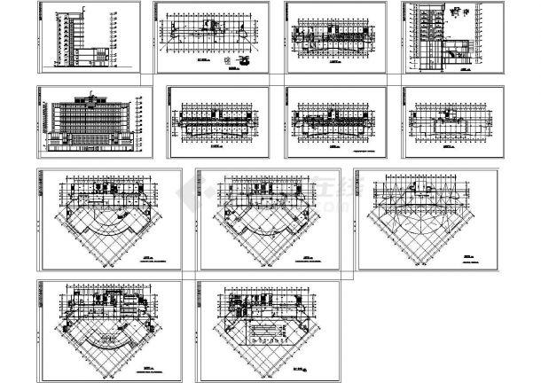浙江某地高档酒店全套建筑施工设计cad图纸(含集水坑详图)-图一