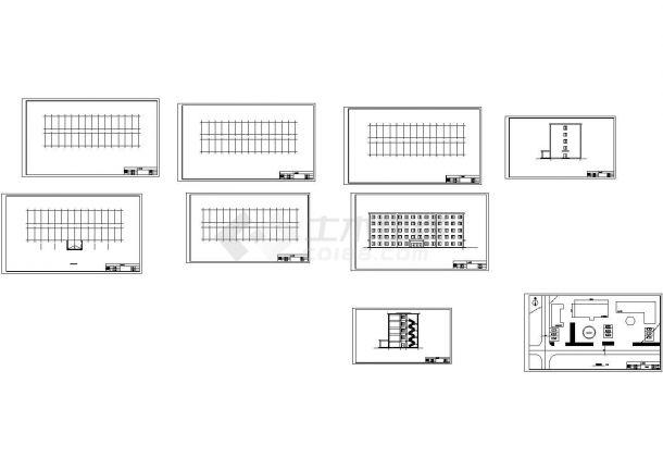 4073平米五层框架办公楼建筑设计cad图,含设计说明-图一