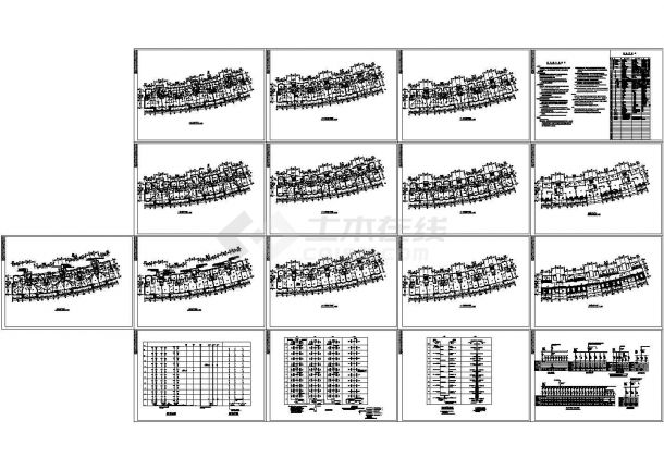 某小高层住宅楼电气详细CAD设计示意图-图一