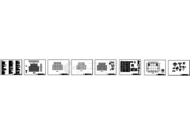 山东钢网架结构体育馆屋盖结构施工图-图一