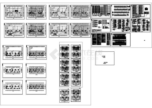 某28层公寓楼全套电气施工cad图(含火灾自动报警平面图)-图一