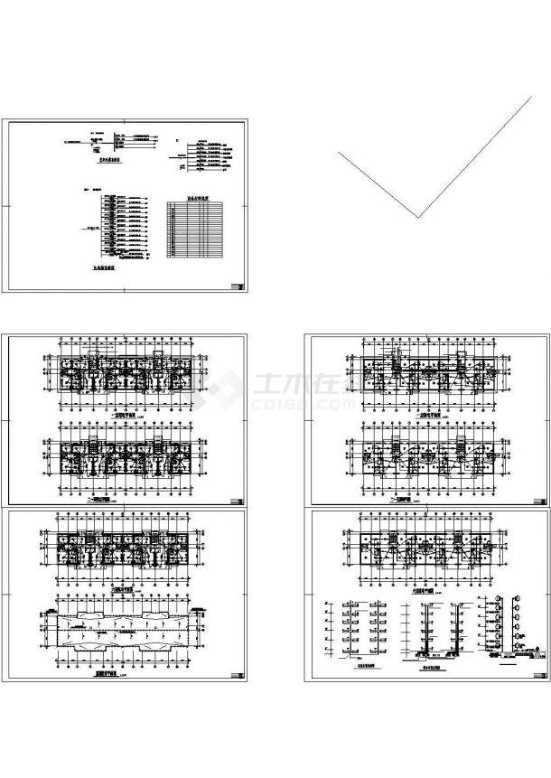 某多层住宅楼电气设计cad全套施工图( 含弱电设计)-图二