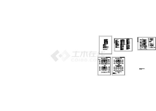 长19.2米 宽12.9米 3层双拼别墅电气节能设计【设备图例 节能设计说明 配电系统图 电话电视系统图 电气 基础接地】(cad,5张图纸)-图一