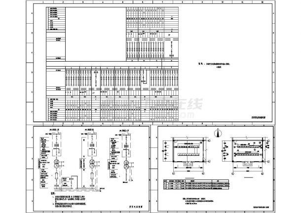 某220kV变电站站用电系统设计cad电气图纸(甲级院设计)-图一