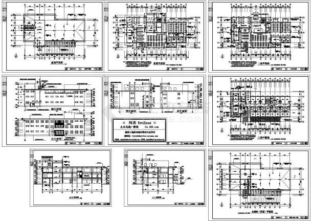某3层框架洗浴中心(2474㎡)建筑设计方案图-图一