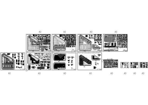 大型综合楼型钢混凝土结构设计施工图-图一