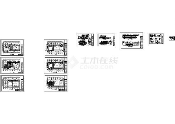 某酒店新中式中厅室内装修设计cad施工图-图二