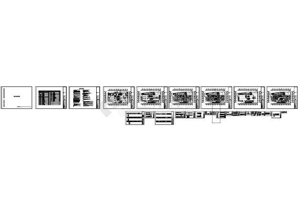 某美食广场室内装修设计cad施工图-图一