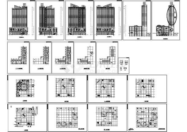 某高层综合商业建筑设计方案以及施工图-图一