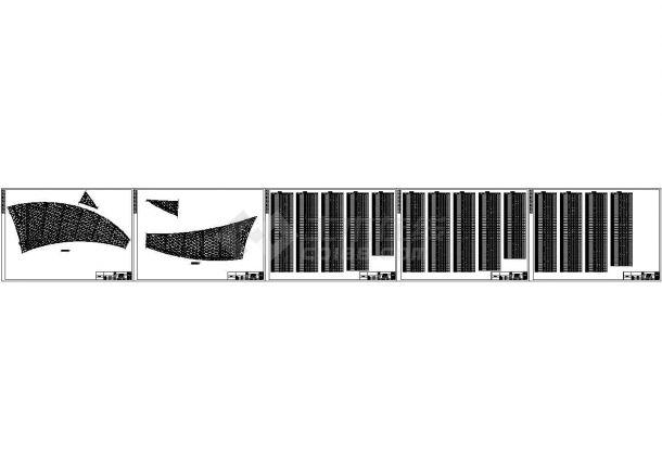 空间+钢网架结构园博会植物馆CAD施工图-图一