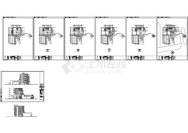 某地中星会所全套建筑施工技术cad图纸(含设计说明,目录)-图一