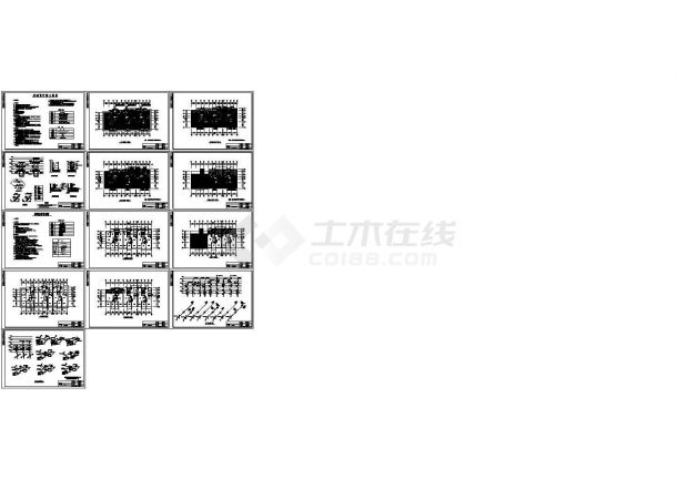 集中住宅楼地板辐射采暖系统设计施工图(含给排水设计)-图一