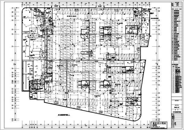 利生苑(A区)地下室消防报警设计cad图(含平面图)-图一