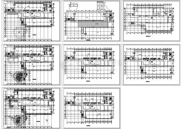 某大学图书馆全套建筑设计方案cad图纸(含层平面图,设计说明)-图一