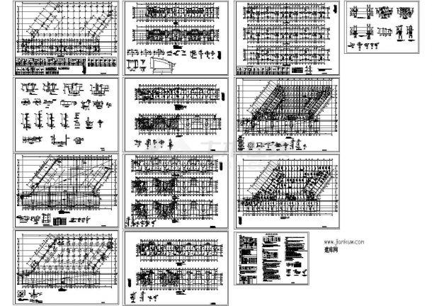 某小高层短肢剪力墙结构住宅楼设计cad全套结构工程施工图纸(含设计说明)-图二