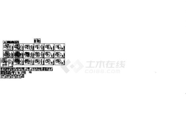 [上海]某独栋双层别墅室内装修设计CAD图-图一