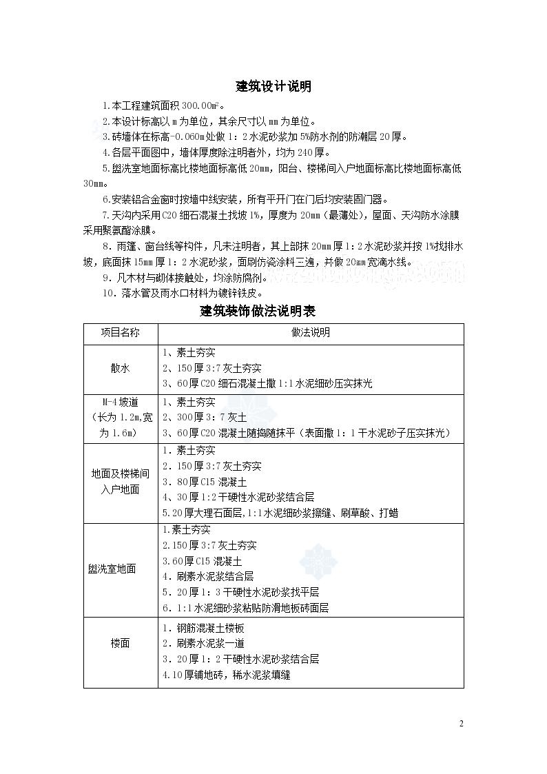 [毕业设计]山东办公楼建筑工程量清单及投标报价书(含全套图纸及工程量计算)75页-图二