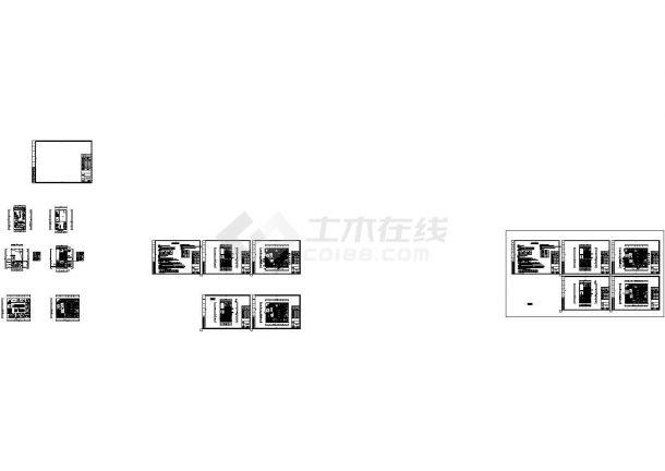 [江西]二层商业办公楼多联机空调系统设计cad图,共十七张-图一