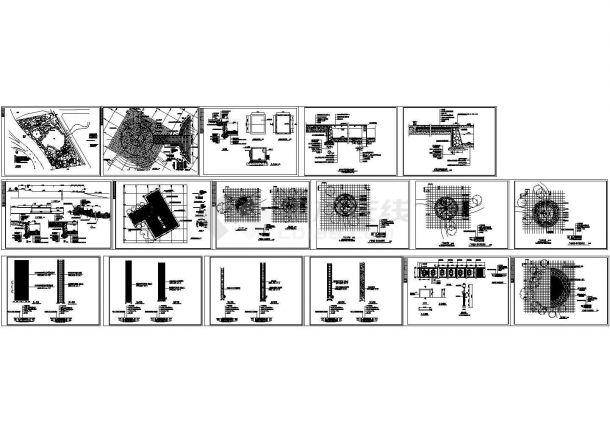太阳湖公园景观设计cad全套施工图(标注详细,17张图)-图一