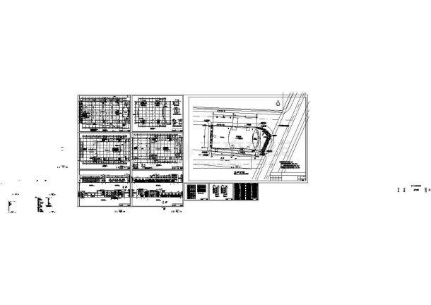 某城市龙归商贸城市内建筑全套设计施工方案CAD图纸-图一
