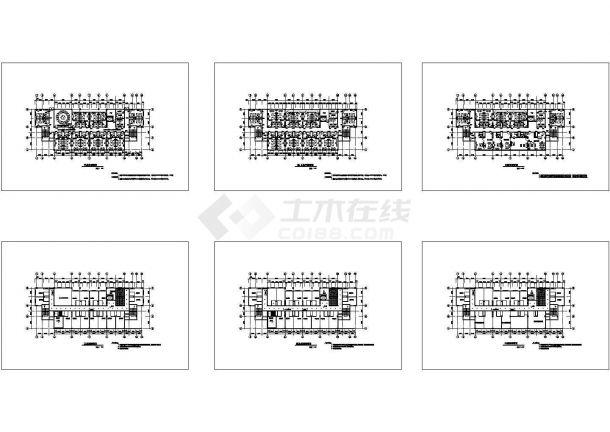 某城市多层高级宾馆建筑平面完整设计施工方案CAD图纸-图一